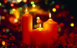 Free Christmas Candles Wallpaper