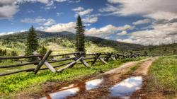 Beautiful Country Fence Wallpaper