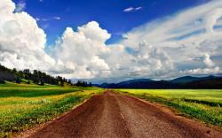 Beautiful sky over dirt road HQ WALLPAPER - (#109592)