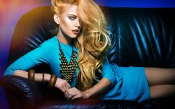Beautiful Girl Model Dress Makeup Fashion