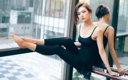 Beautiful Girl Asian Dancer