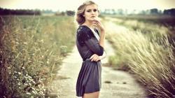Beautiful Girl Blonde Dress