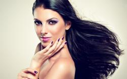Beautiful Girl Brunette Makeup