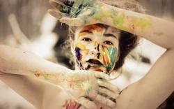 Beautiful Girl Look Paint