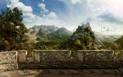 original wallpaper download: Beautiful hills - 1680x1050