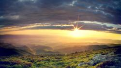 Beautiful Hilltop Sunrise Wallpaper picture