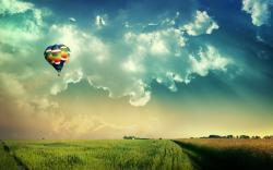 Beautiful Places hot air balloon