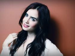 With Face Smiling Most Beautiful Lily Collins Hd Pictures