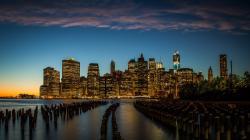nature landscape other beautiful new york city sunset wallpaper Wallpaper