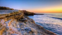 Beautiful Rocky Seashore Near San Diego Hd Desktop Background HD wallpapers