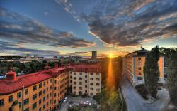 sweden city sunrise widescreen high resolution wallpaper