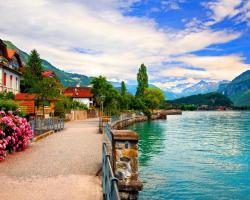 Wallpaper Tags: view lovely lake capital nice beautiful shore dock flowers water peaceful bern town quiet pretty blue beauty mountain reflection nature ...