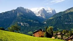 beautiful hill in switzerland photo