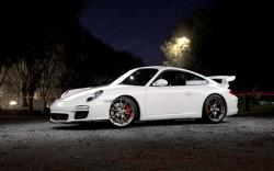White Porsche Wallpaper