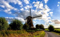 HD Windmill Wallpaper