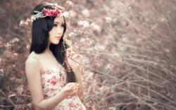 Beauty Asian Girl Nature