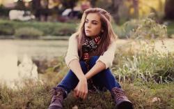 Beauty Blonde Girl Nature Fashion