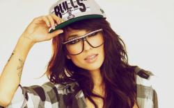 Beauty Girl Alie Layus Glasses Cap