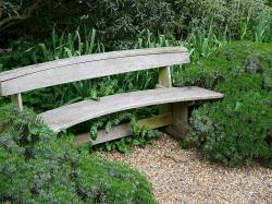 This bench is perfect for nestling into the garden