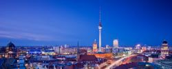 2560x1024 Wallpaper berlin, city, roads, houses