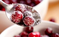 Berries Red Cranberries Sugar Spoon