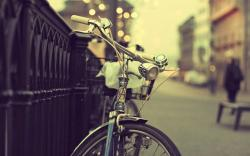 Bicycle City Street Fence