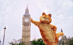 Garfield Leaning On Big Ben Wallpaper 1280x800