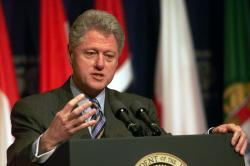 Press Conference US President Bill Clinton ...