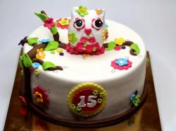 birthday cake owl