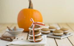 Biscuits Sweet Ribbon Pumpkin Autumn