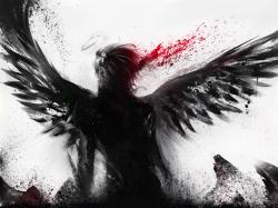 Bleeding of the black angel wallpaper 1600x1200.