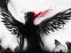 Bleeding of the black angel wallpaper 1600x1200.