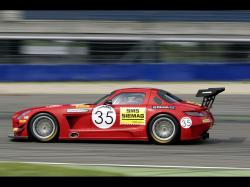 2011 Mercedes-Benz SLS AMG GT3 Black Falcon - Side Speed - 1920x1440 - Wallpaper