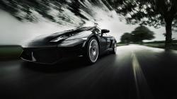 Black Lamborghini LP560 Road Photo