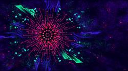 Beautiful Black Light Colorful Wallpaper High Definition Wallpaper