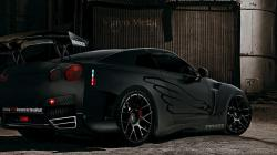 Nissan Gtr Black Car Tuning