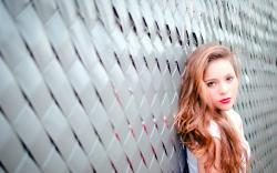 Fence Blonde Girl