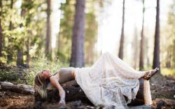 Blonde Girl Forest Photo