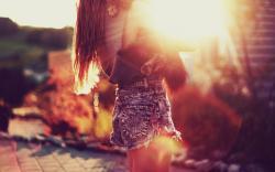 Blonde Girl Sun Mood Photo