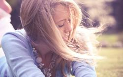 Blonde Girl Wind Photo