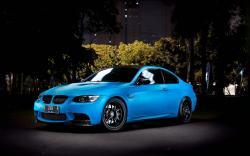 Blue BMW M3 Night City