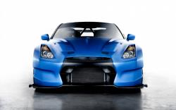 Nissan GT-R Blue Car HD Wallpaper