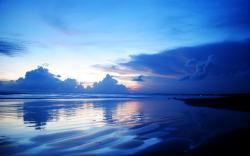 Download Blue dusk, sea, sky, beach, beaches, 1920x1200 wallpaper ...