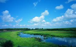 Blue sky prairie scenery 22770