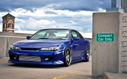 Blue Nissan Silvia Wallpaper