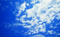 Blue sky clouds