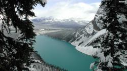 Blue Winter Lake Wallpaper