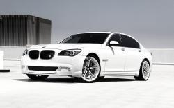 BMW 750Li White Car