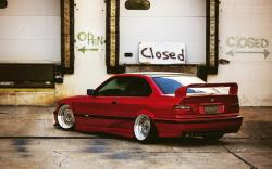 BMW E36 Red Tuning Car