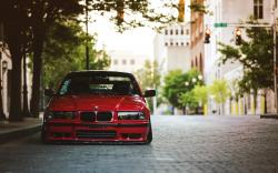 BMW E36 Red Tuning Street
